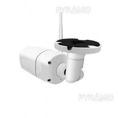 Išmanioji lauko WIFI kamera su žmonių detekcijos funkcija PYRAMID PYR-SH200DW, WIFI, microSD jungtis, Full HD 1080p 6