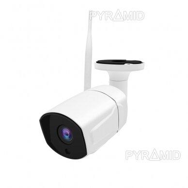 Išmanioji lauko WIFI kamera su žmonių detekcijos funkcija PYRAMID PYR-SH200DW, WIFI, microSD jungtis, Full HD 1080p