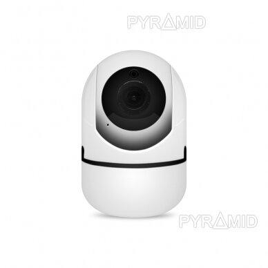 Išmanioji WIFI kamera su žmonių detekcijos funkcija PYRAMID PYR-SH200XA-AI, su WIFI ir microSD jungtimi bei mikrofonu, HD 1080p 2