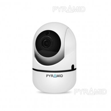 Išmanioji WIFI kamera su žmonių detekcijos funkcija PYRAMID PYR-SH200XA-AI, su WIFI ir microSD jungtimi bei mikrofonu, HD 1080p