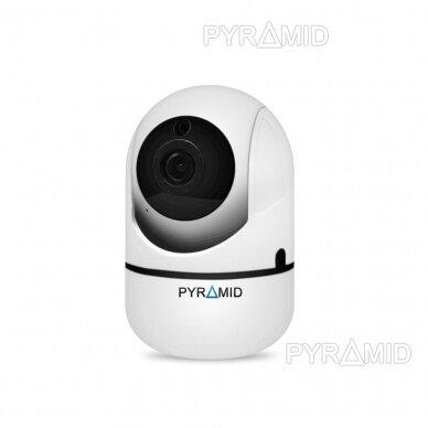 Išmanioji valdoma IP kamera PYRAMID PYR-SH100XA, su WIFI ir microSD jungtimi bei mikrofonu, HD 720p