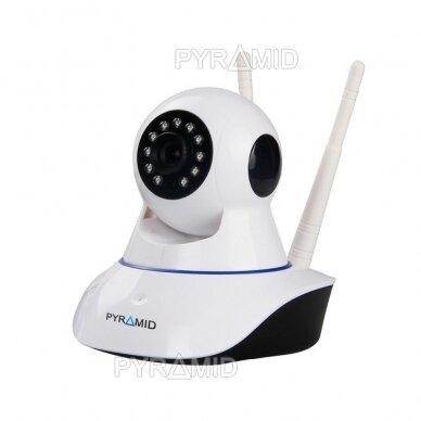 Išmanioji valdoma IP kamera PYRAMID PYR-SH200XC, su WIFI, mikrofonu ir microSD jungtimi, Full HD 1080p