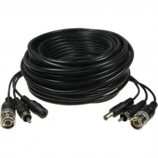 Võimsus-ja signaali kaabel 20m BNC+RCA+5,5mm
