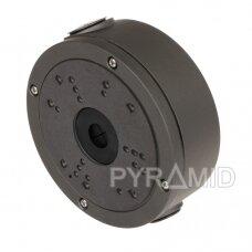 Kameros laidų jungiamoji dėžutė - montavimo bazė B320, metalinė tamsiai pilka