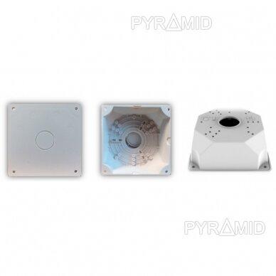 Kameros laidų jungiamoji dėžutė - montavimo bazė B116, plastikinė, balta