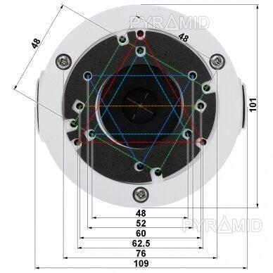 Kameros laidų jungiamoji dėžutė - montavimo bazė B310W, metalinė, balta 3