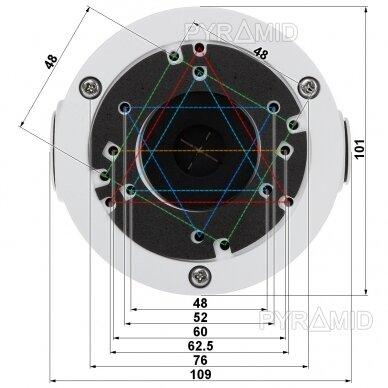 Kameros laidų jungiamoji dėžutė - montavimo bazė B310, balta 3
