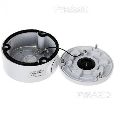 Kameros laidų jungiamoji dėžutė - montavimo bazė B310W, metalinė, balta 4