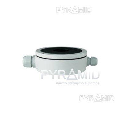 Kameros laidų jungiamoji dėžutė - montavimo bazė B320, metalinė balta 5