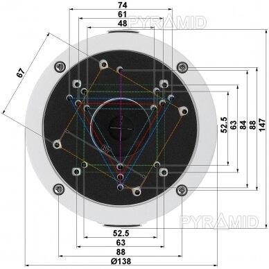 Kameros laidų jungiamoji dėžutė - montavimo bazė B320, balta 3