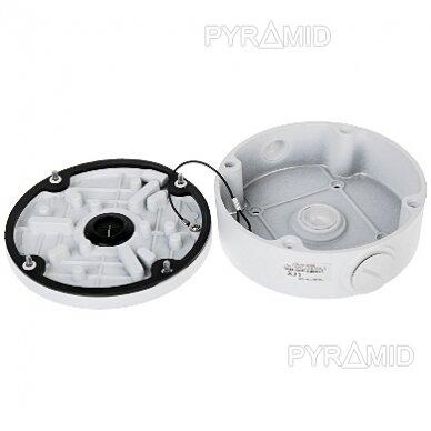 Kameros laidų jungiamoji dėžutė - montavimo bazė B320, metalinė balta 4