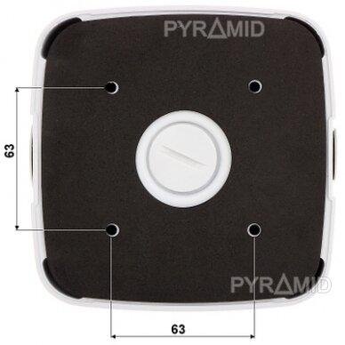 Kameros laidų jungiamoji dėžutė - montavimo bazė B330, balta 4