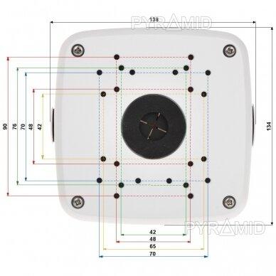 Kameros laidų jungiamoji dėžutė - montavimo bazė B330, balta 2