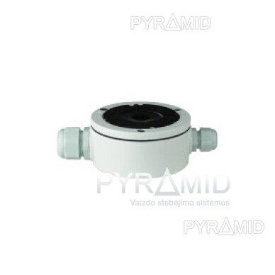 Kameros laidų jungiamoji dėžutė - montavimo bazė B310, metalinė, balta 5