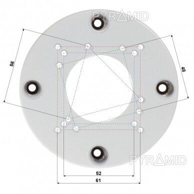 Kupolinės kameros montavimo bazė B200W, balta 2