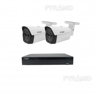 4K 8 megapikselių raiškos IP kamerų komplektas Longse - 2- 4 kameros LBF30SV800 4