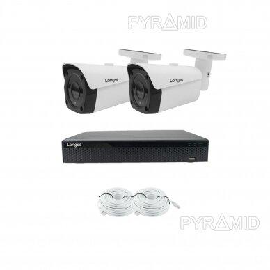 4K 8 megapikselių raiškos IP kamerų komplektas Longse - 2- 4 kameros LBF30SV800 5