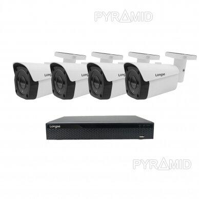 4K 8 megapikselių raiškos IP kamerų komplektas Longse - 2- 4 kameros LBF30SV800 8