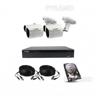 4K 8Mp AHD kamerų komplektas 2-4 kameros Longse LBH30HTC800FV 15