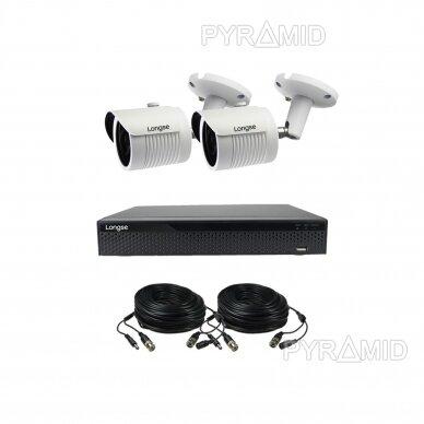 4K 8Mp AHD kamerų komplektas 2-4 kameros Longse LBH30HTC800FV