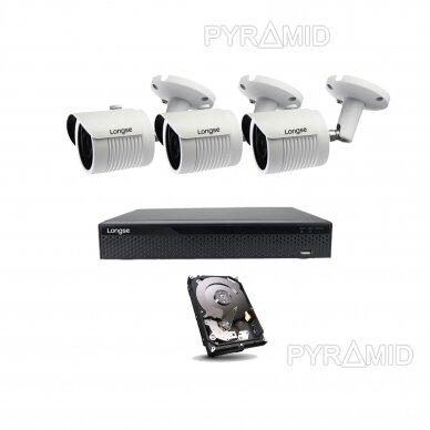 4K 8Mp AHD kamerų komplektas 2-4 kameros Longse LBH30HTC800FV 10