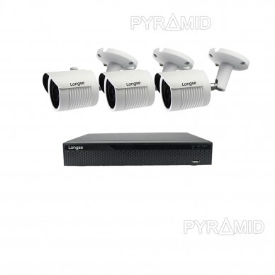 4K 8Mp AHD kamerų komplektas 2-4 kameros Longse LBH30HTC800FV 9