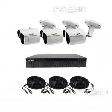 4K 8Mp AHD kamerų komplektas 2-4 kameros Longse LBH30HTC800FV 12