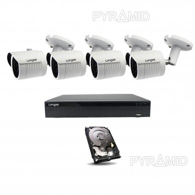 4K 8Mp AHD kamerų komplektas 2-4 kameros Longse LBH30HTC800FV 4