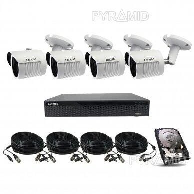 4K 8Mp AHD kamerų komplektas 2-4 kameros Longse LBH30HTC800FV 5