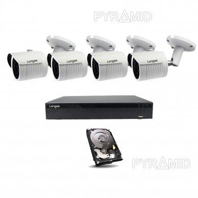 4K 8Mp AHD kamerų komplektas 2-4 kameros Longse LBH30HTC800FV 7