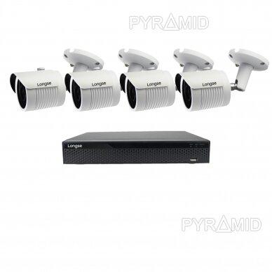 4K 8Mp AHD kamerų komplektas 2-4 kameros Longse LBH30HTC800FV 3