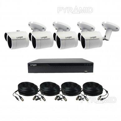 4K 8Mp AHD kamerų komplektas 2-4 kameros Longse LBH30HTC800FV 8