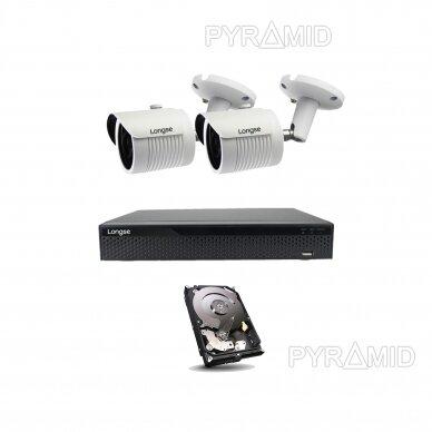 4K 8Mp AHD kamerų komplektas 2-4 kameros Longse LBH30HTC800FV 14
