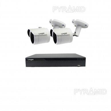 4K 8Mp AHD kamerų komplektas 2-4 kameros Longse LBH30HTC800FV 13