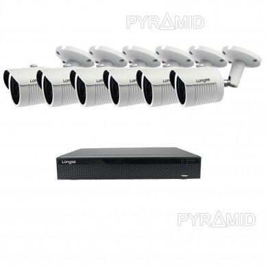 5 megapikselių raiškos IP kamerų komplektas Longse - 5-8 kameros LBH30SS500 8