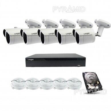 5 megapikselių raiškos IP kamerų komplektas Longse - 5-8 kameros LBH30SS500 5
