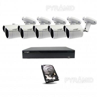 5 megapikselių raiškos IP kamerų komplektas Longse - 5-8 kameros LBH30SS500 4