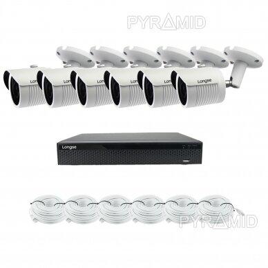 5 megapikselių raiškos IP kamerų komplektas Longse - 5-8 kameros LBH30SS500 9