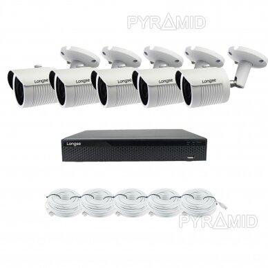 5 megapikselių raiškos IP kamerų komplektas Longse - 5-8 kameros LBH30SS500 3