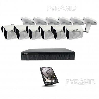 5 megapikselių raiškos IP kamerų komplektas Longse - 5-8 kameros LBH30SS500 12