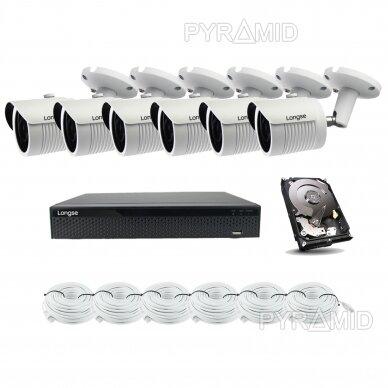5 megapikselių raiškos IP kamerų komplektas Longse - 5-8 kameros LBH30SS500 13