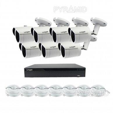 5 megapikselių raiškos IP kamerų komplektas Longse - 5-8 kameros LBH30SS500 15