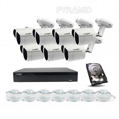 5 megapikselių raiškos IP kamerų komplektas Longse - 5-8 kameros LBH30SS500 17