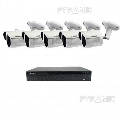 5 megapikselių raiškos IP kamerų komplektas Longse - 5-8 kameros LBH30SS500