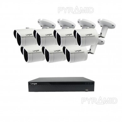5 megapikselių raiškos IP kamerų komplektas Longse - 5-8 kameros LBH30SS500 14
