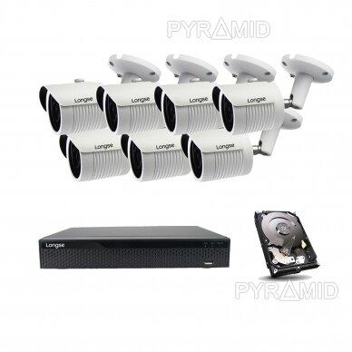 5 megapikselių raiškos IP kamerų komplektas Longse - 5-8 kameros LBH30SS500 16