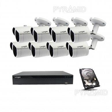 5 megapikselių raiškos IP kamerų komplektas Longse - 5-8 kameros LBH30SS500 24
