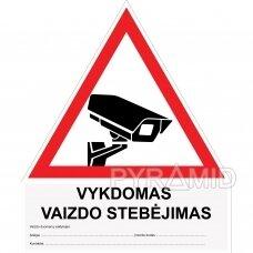 Uzlīmju videonovērošana, balts-sarkans, lietuviešu valodā