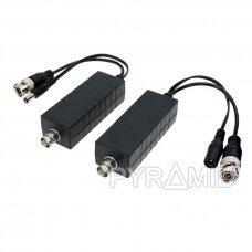 Video raidītājs un barošana ar koaksiālo kabeli POC-330