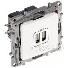 MAITINIMO LIZDAS LE-764594 Niloe 2 PORTAI USB 2.4A/5V LEGRAND